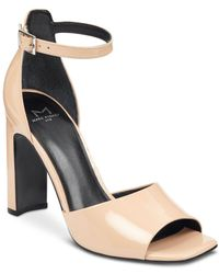 Marc Fisher - Harlin Patent Leather Ankle Strap Sandals - Lyst