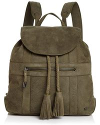 Halston - Jerry Medium Nubuck Leather Backpack - Lyst