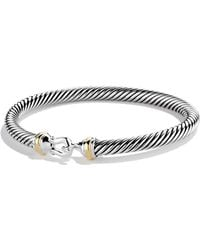 David Yurman | Cable Buckle Bracelet With Gold | Lyst