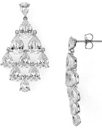 Nadri - Drop Chandelier Earrings - Lyst