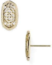 Kendra Scott - Filigree Ellie Stud Earrings - Lyst