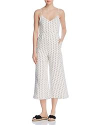 Lost + Wander - Lost + Wander Hollywood Cropped Printed Jumpsuit - Lyst