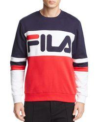 Fila - Freddie Color-block Logo Sweatshirt - Lyst