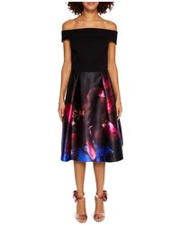 John Lewis - Ted Baker Kimey Impressionist Bardot Dress - Lyst
