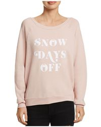 Project Social T - Snow Days Graphic Sweatshirt - Lyst