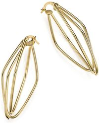 Bloomingdale's - 14k Yellow Gold Diamond-shaped Overlap Earrings - Lyst