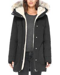 SOIA & KYO - Saundra Fur Trim Hooded Down Coat - Lyst