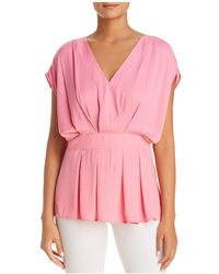 Vince Camuto - Textured Pleat Blouse - Lyst