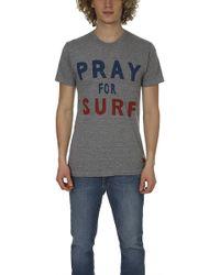 Aviator Nation - Pray For Surf Crew Tee Heather - Lyst