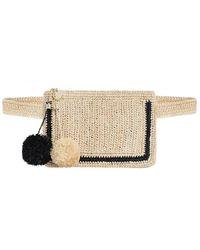 Zimmermann Raffia Stripe Belt Bag - Natural