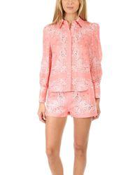 Zimmermann - Heathers Bandana Printed Linen Shirt - Lyst