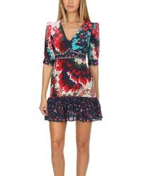 Saloni - Vera-b Dress Multi - Lyst