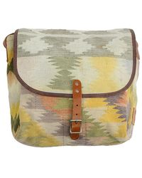 Will Leather Goods - Wills Leather Goods Dhurrie Messenger Bag - Lyst