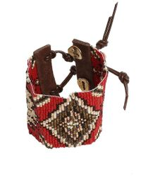 Chan Luu - Red Mix Bead Cuff Bracelet - Lyst