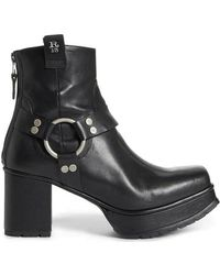 R13 - Ankle Harness Platform Boot - Lyst