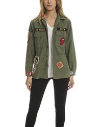 Madeworn Rock - Madeworn Rolling Stones Army Jacket - Lyst