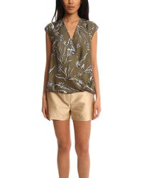 3.1 Phillip Lim - Floral Print Soft Draped Sleeveless Blouse - Lyst