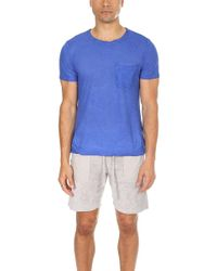 Massimo Alba - Panarea Tee Royal Blue - Lyst