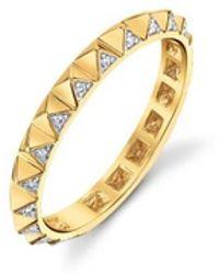 Sydney Evan - Diamond Pyramid Eternity Ring - Lyst