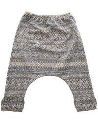 Blue & Cream - Harem Fancy Trousers - Lyst