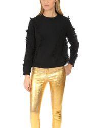 ATM - Wool Fringe Sweater - Lyst