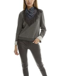 10 Crosby Derek Lam - Sweatshirt With Detachable Scarf - Lyst