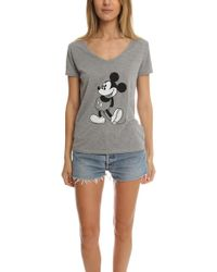 David Lerner - Mickey Scoop Neck Tee - Lyst