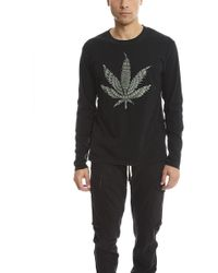 Lucien Pellat Finet | Embroidered Leaf Tee | Lyst