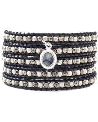 Chan Luu - Black Leather Wrap Bracelet - Lyst
