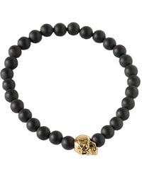 Duchess Of Malfi - Matte Onyx Skull Bracelet - Lyst