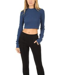 Cotton Citizen - Monaco Crop Ls Lagoon - Lyst