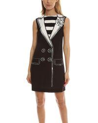 Boutique Moschino - Tuxedo Dress - Lyst