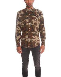 Lucien Pellat Finet | Camo Western Shirt With Leaf | Lyst