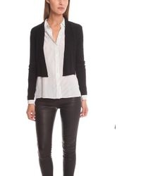 Vince - Ribbed Open Cardigan - Lyst