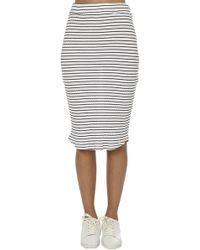 Monrow - Stripe Rib Pencil Skirt - Lyst