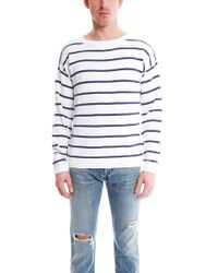 Shipley & Halmos - Burgee Crew Sweater Stripe - Lyst
