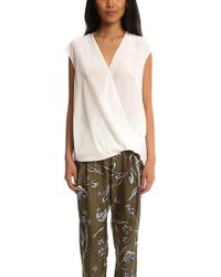 3.1 Phillip Lim - Soft Draped Sleeveless Blouse - Lyst