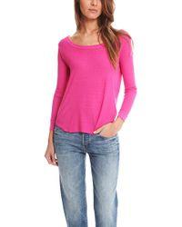 Enza Costa - Rib Long Sleeve Baseball Shirt - Lyst