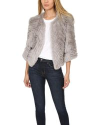 H Brand - Jagger Rabbit Fur Jacket - Lyst