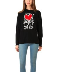 Lucien Pellat Finet - Keith Haring Red Heart Sweater - Lyst
