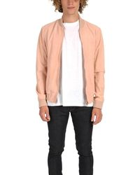 President's Suede Bomber Pink