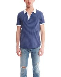 Shipley & Halmos - Broome Polo In Plum/blue - Lyst