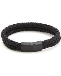 Vitaly - Dubbel Bracelet Matte Black - Lyst