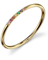 Sydney Evan - 7 Stone Rainbow Ring - Lyst