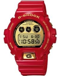 G-Shock - 30th Anniversary Gold Dial Red Resin Watch - Lyst