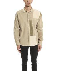 Longjourney   Patchwork Dress Shirt   Lyst
