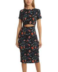 SUNO - Cut Out Dress Fibi - Lyst