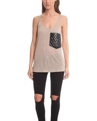 Erin Kleinberg - Coated Patchwork Pocket Tank - Lyst