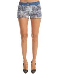 Balmain - Denim Tweed Shorts - Lyst
