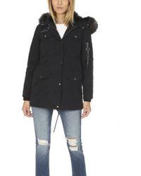 Jocelyn - Washed Cargo Coat With Fur Lining - Lyst